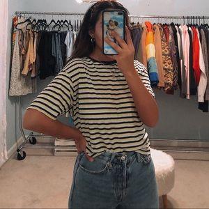 brandy melville striped tshirt